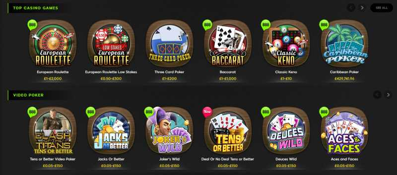 888 Casino Review Ubet Online Casino