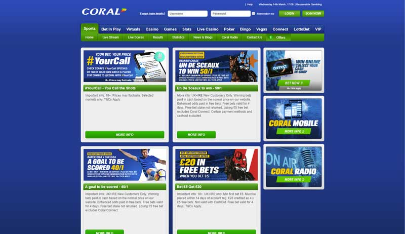 Coral sports betting jobs raonic vs federer betting expert foot